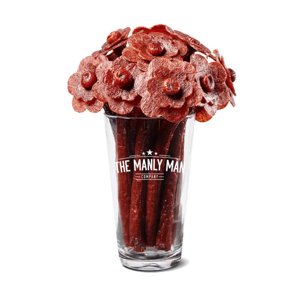 funny dad gift: jerky flower bouquet