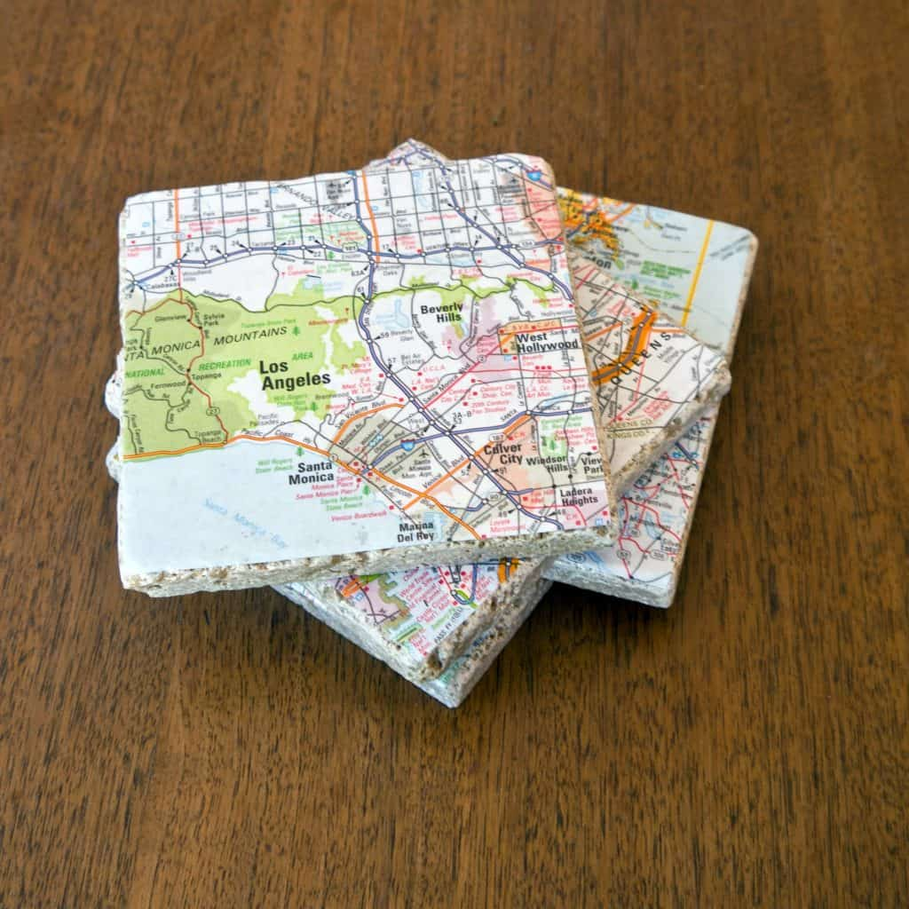 valentine day gift ideas for boyfriend homemade: map coasters