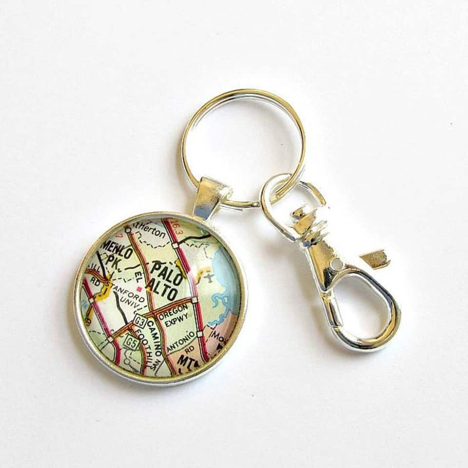 Map Keychain - graduation gift ideas for your sister