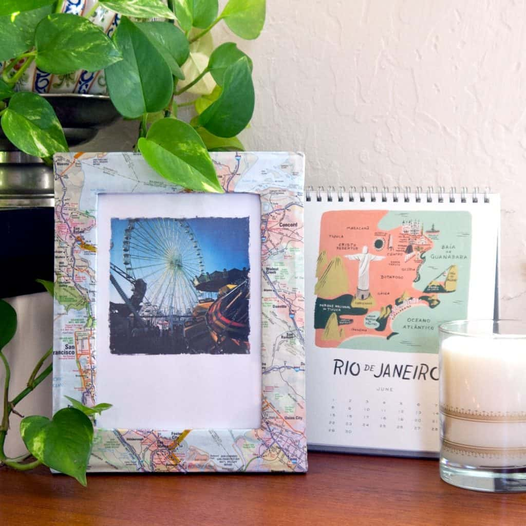valentine's day gifts for him homemade: map photo frame