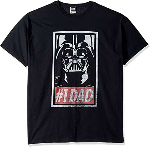 funny star wars gifts for men: #1 dad t-shirt