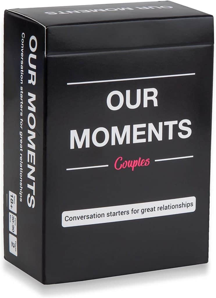 valentine gift ideas for husbands: our moments couples card game