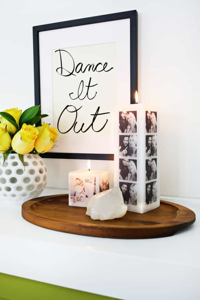 diy valentine's gifts for him: photo candle