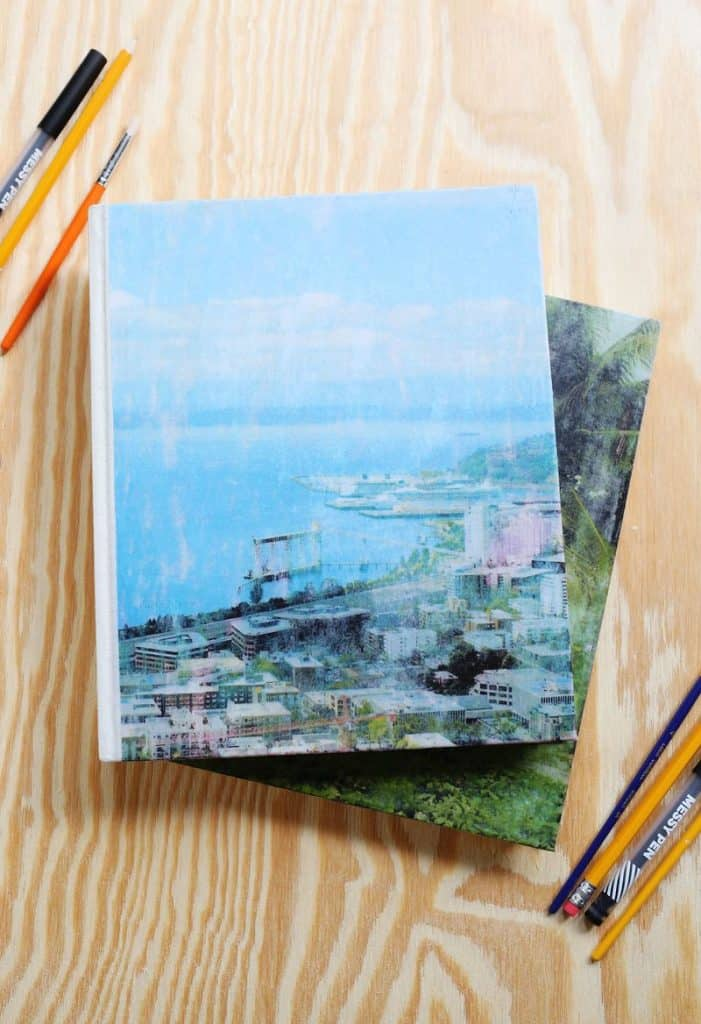 creative valentine's day gifts for him: photo transfer journal