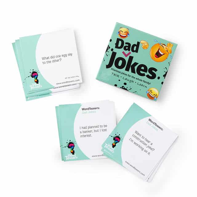 funny gift for dads: word teasers - dad jokes