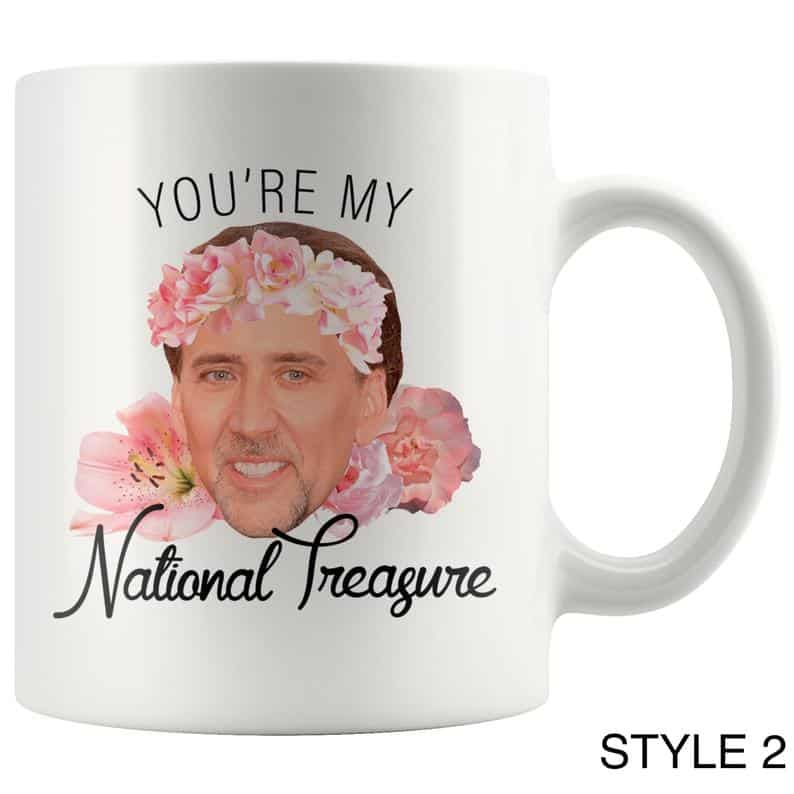 valentine's day gag gifts: you're my national treasure mug
