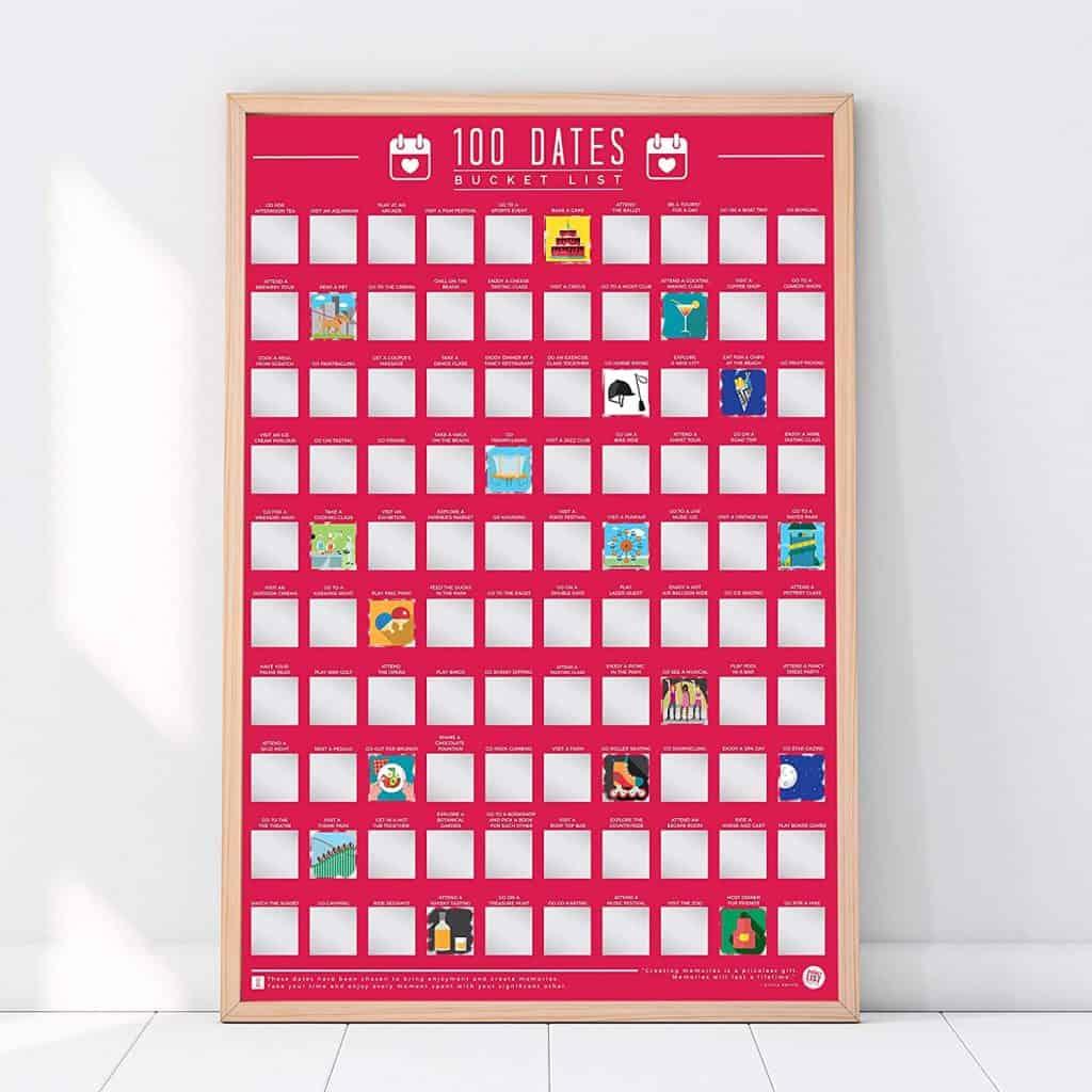 anniversary gift ideas: 100 dates bucket list