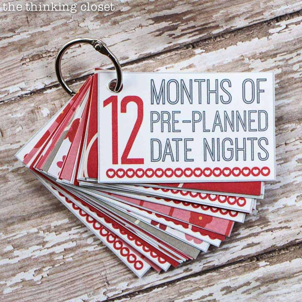 12 Months of Pre-planned Date Nights