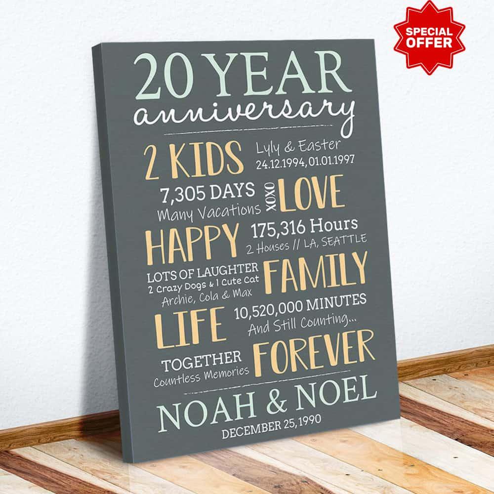 20 year anniversary gift