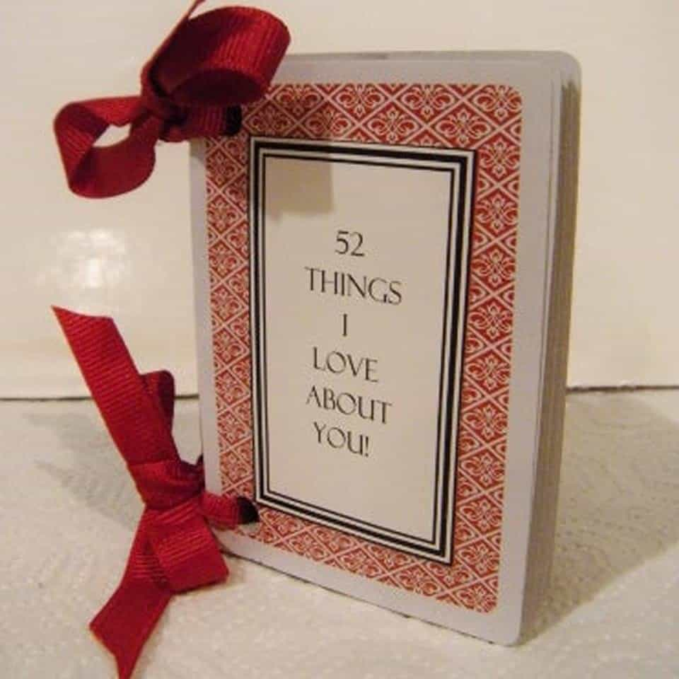52 Things I Love About You Cards