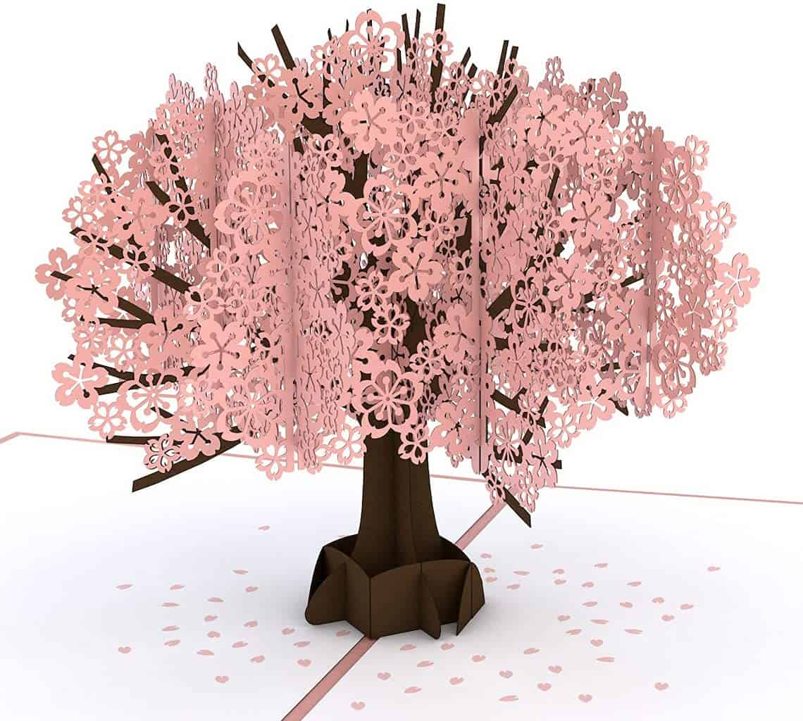 Cherry Blossom Pop Up Card - Mother's Day Card for Wife