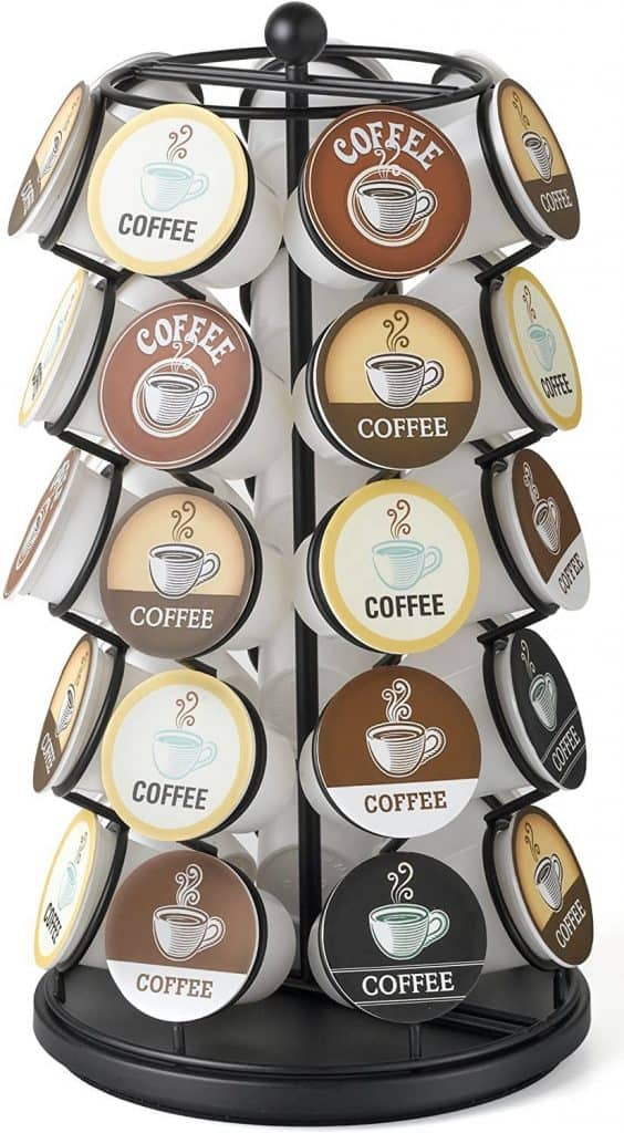 Coffee Pod Carousel that Holds 35 K-Cups - Gift For Dad