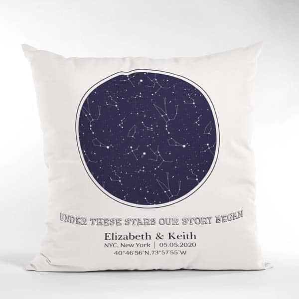 friends anniversary gifts: Custom Star Map Pillow