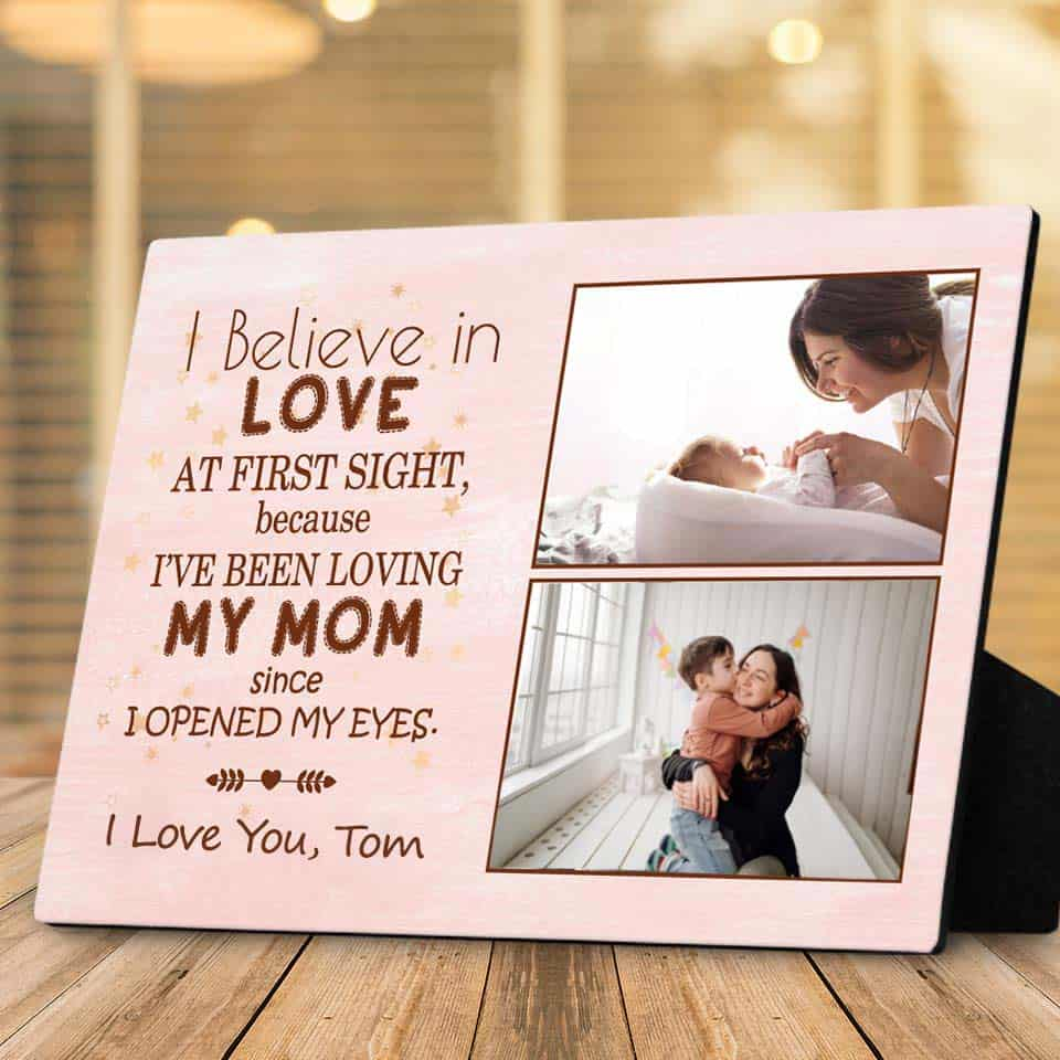 mothers day gift ideas for mom from son - Desktop Photo Plaque