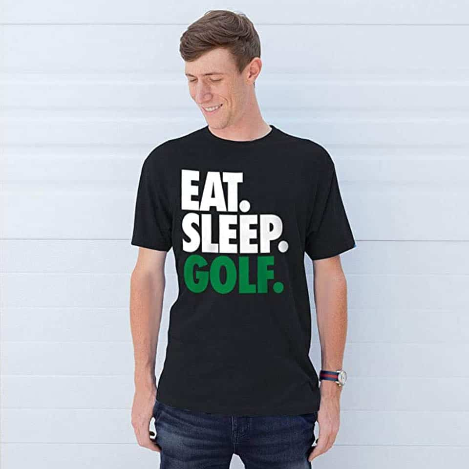 Eat Sleep Golf Adult T-Shirt - gifts for a guy you just started dating