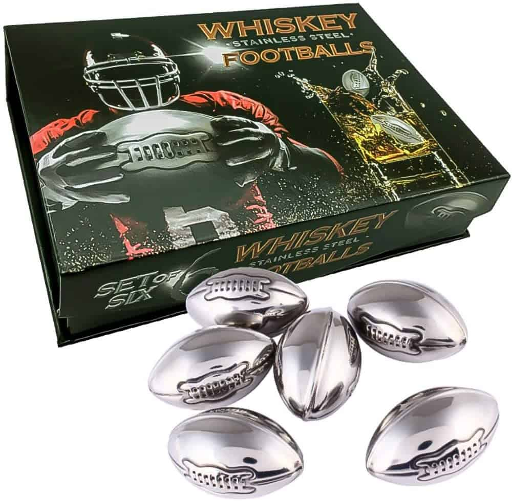 Football Whiskey Stones Cool Birthday Gift Sets for Him Man Father's day Dad