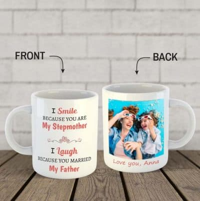 funny mug for stepmother in Mother's Day