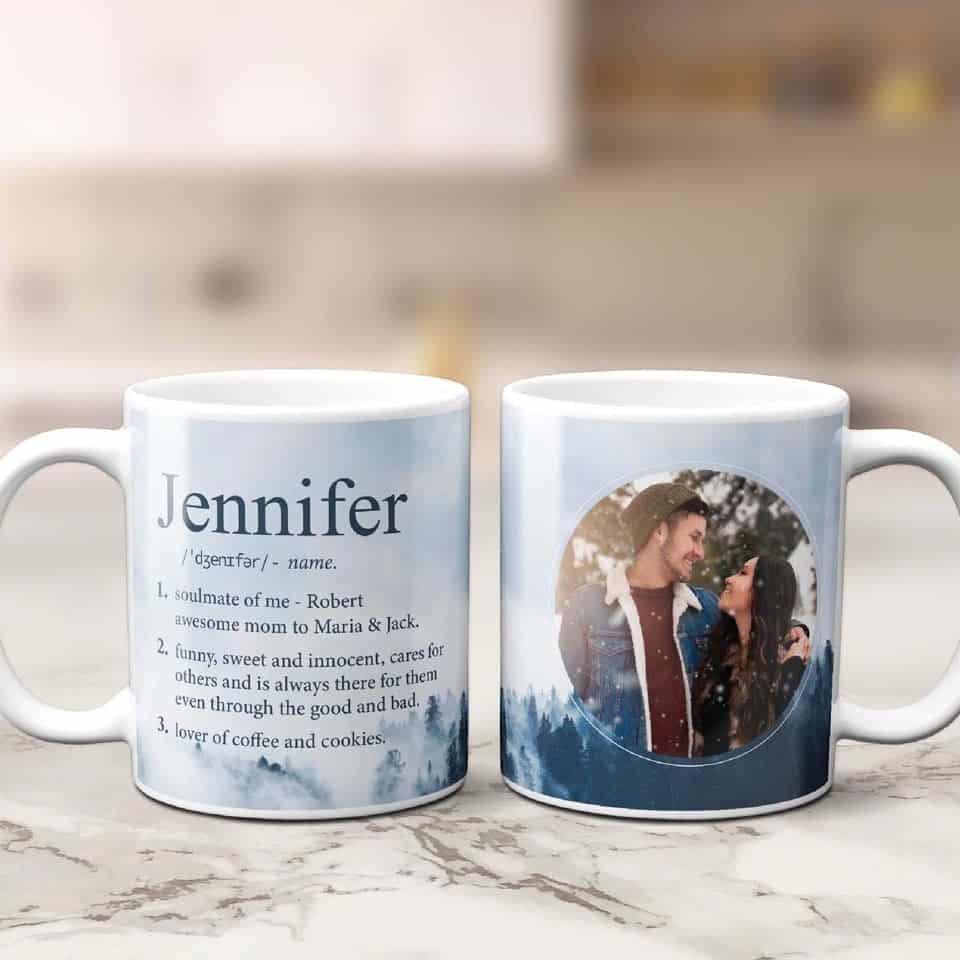 Funny Name Definition Custom Photo Mug - new relationship gift ideas for him