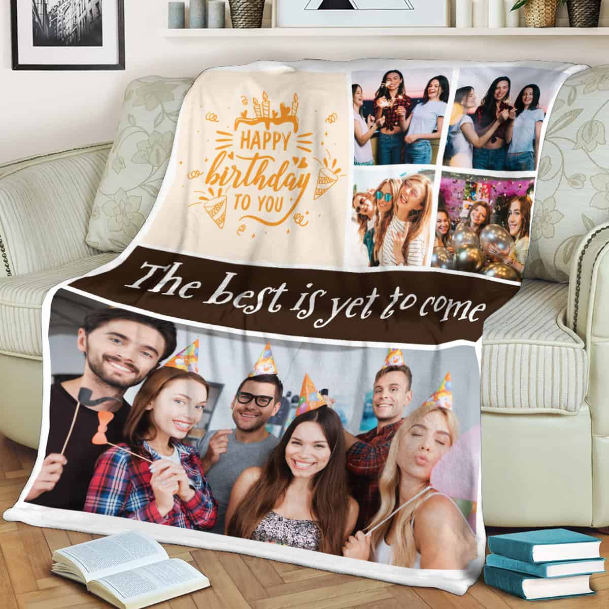 Happy Birthday To You The Best Is Yet To Come Custom Photo Blanket For 16 year old girls