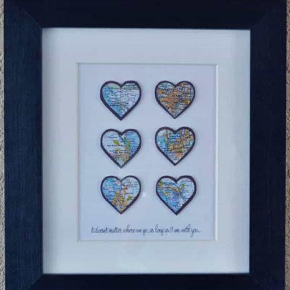 Heart Map Art