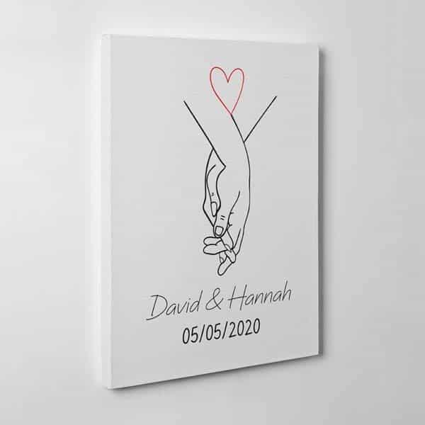 Holding Hand Canvas Print