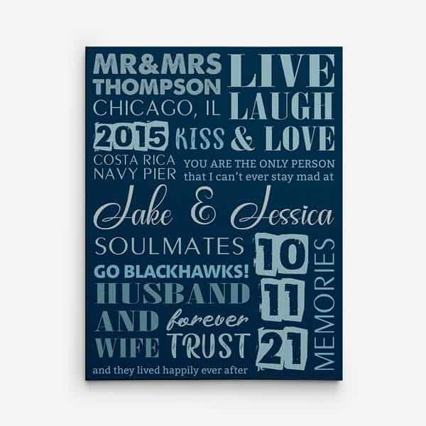 friends anniversary gifts: Husband and Wife wall art