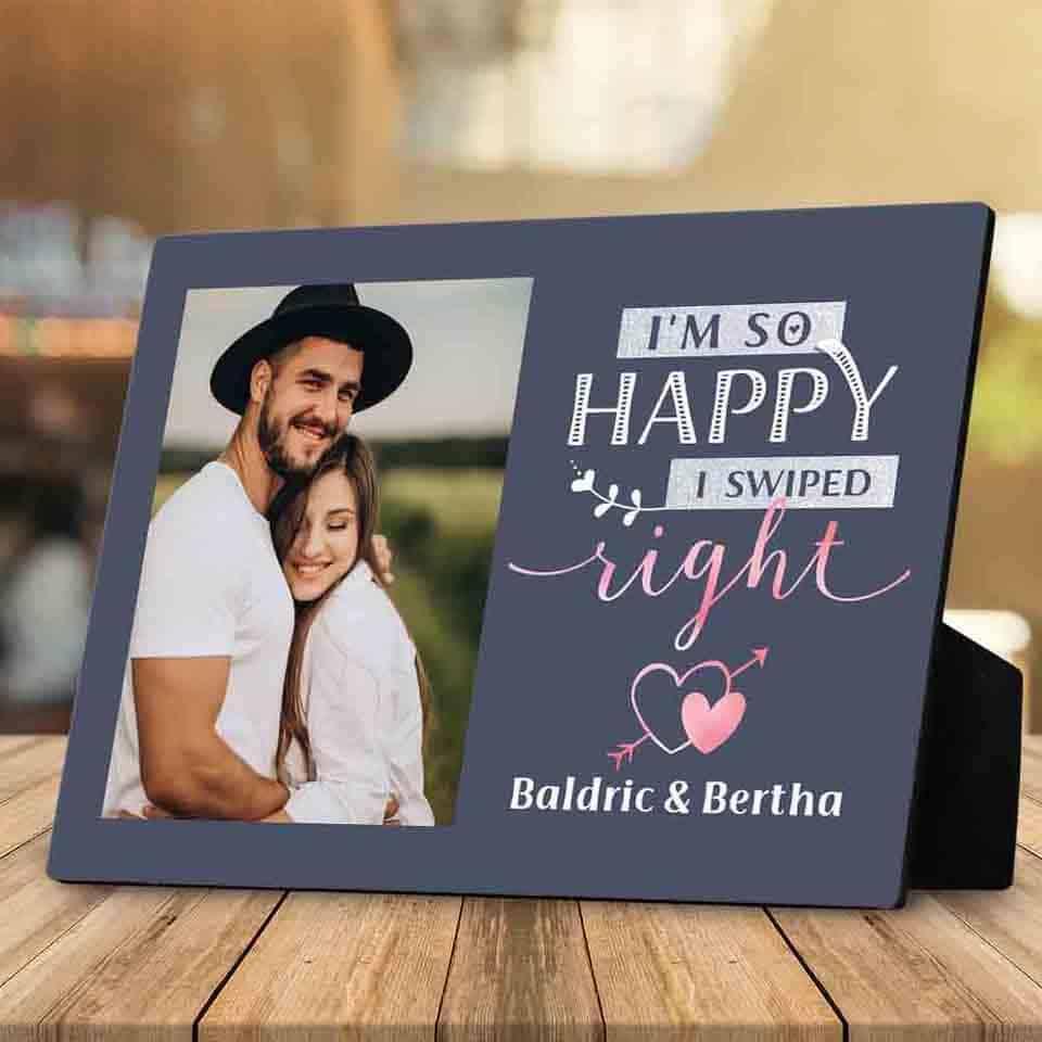 I Swiped Right Desktop Plaque - gift ideas for new boyfriend