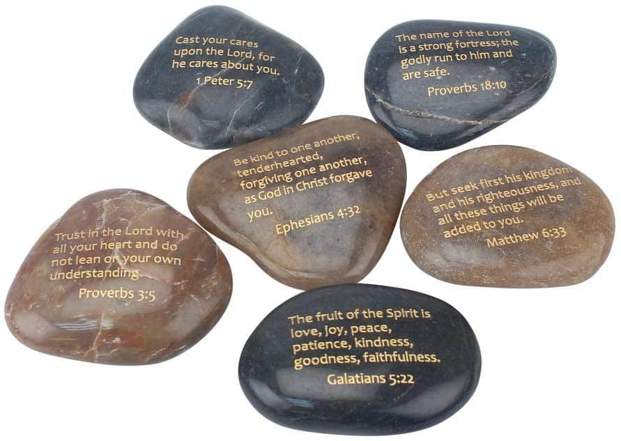 Inspirational Scripture Stones, Religious Gift Ideas for Friends and Family