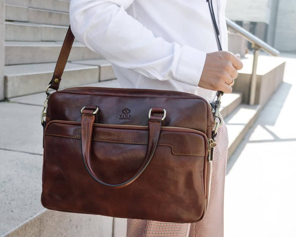 leather briefcase for men as a graduation gift for him