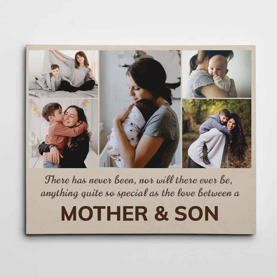 mum gifts from son - Love between Mother and Son Canvas
