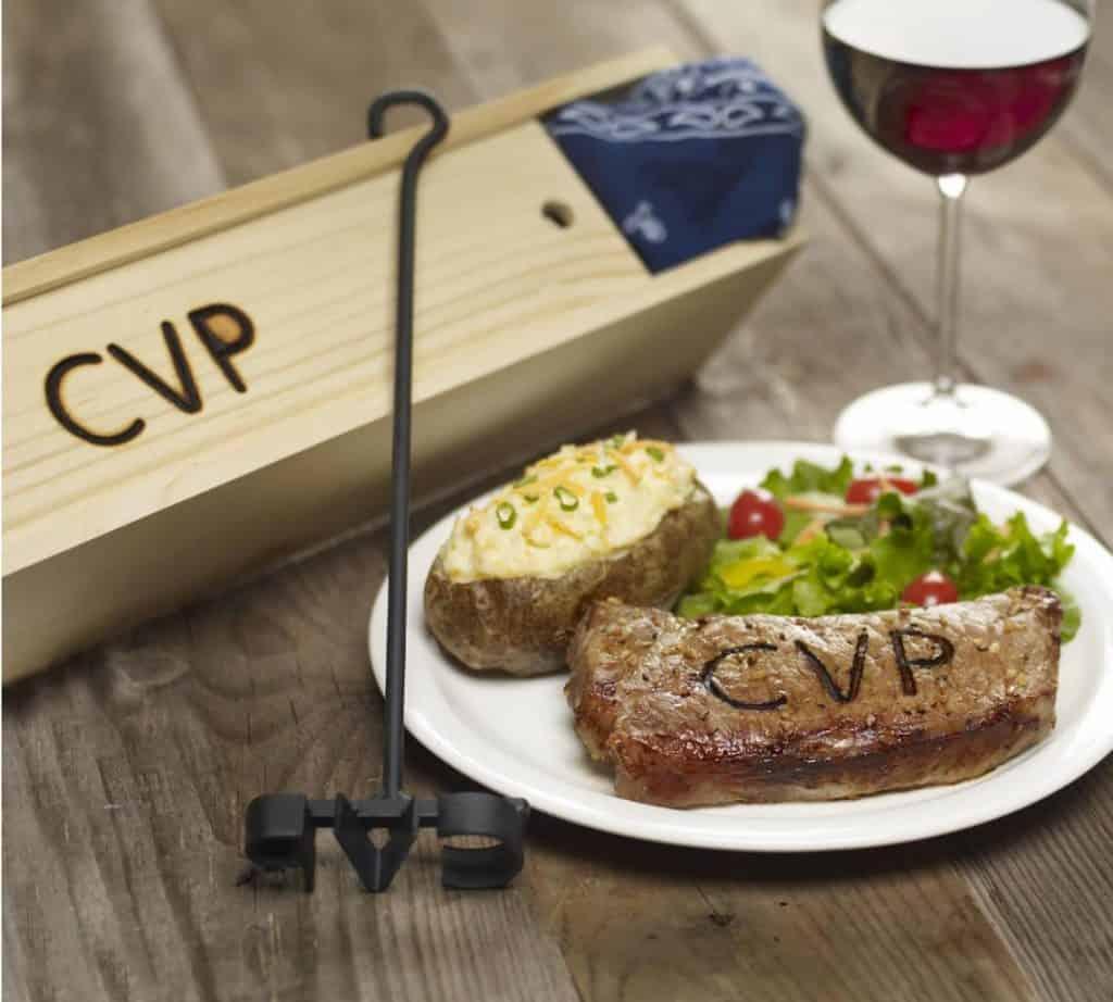 Monogram Branding Iron For Steak Unique Grilling Gift For Dad