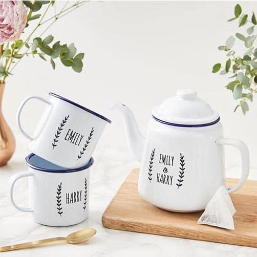 Personalized Enamel Teapot
