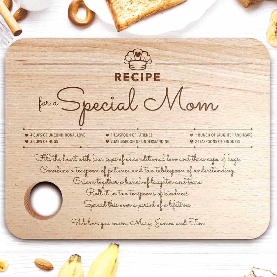 Personalized Cutting Board - gifts to mom from son