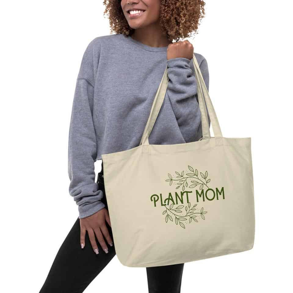mom gifts for mothers day - Plant Mom Large Organic Tote Bag