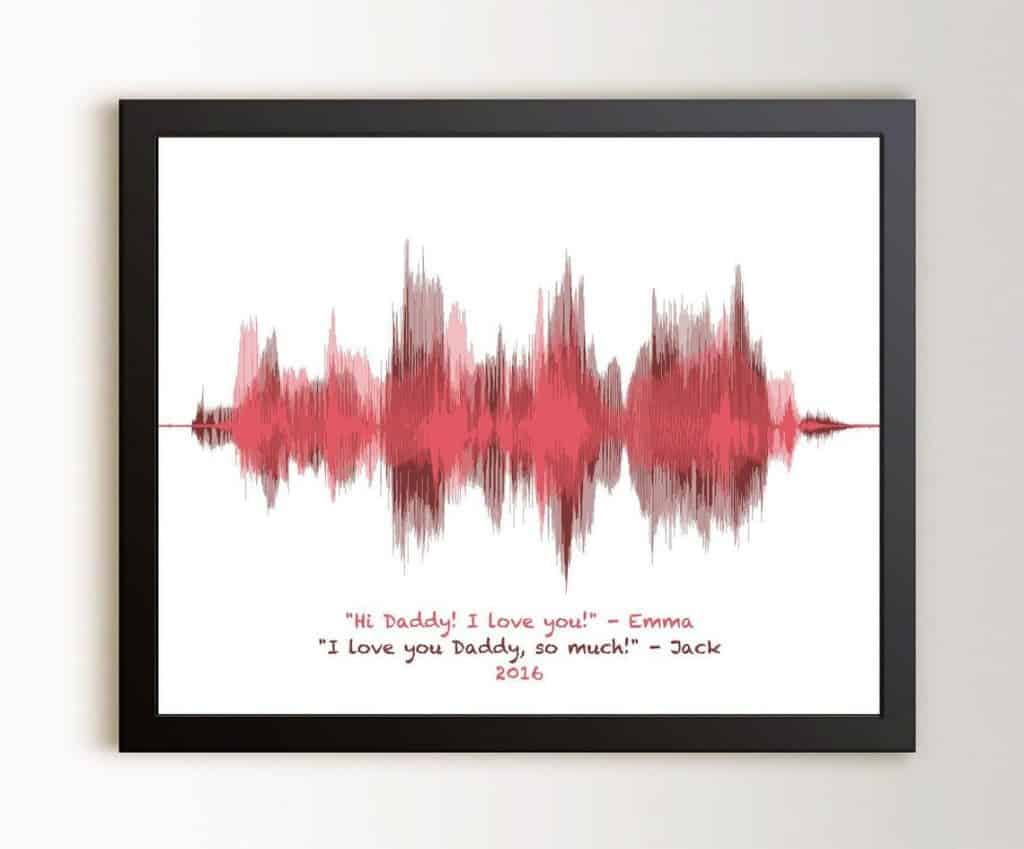 Sound Wave Art For Dad from Kids