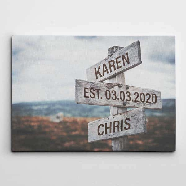 Street Sign Wall Art: romantic gifts for him
