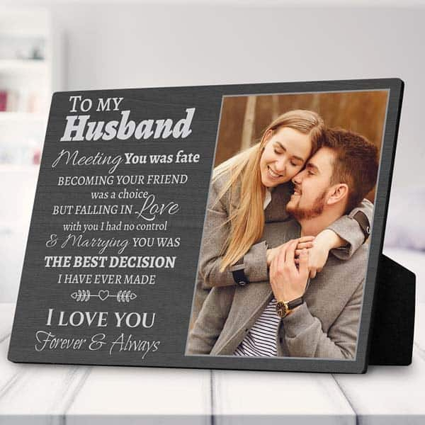To My Husband Photo Plaque: romantic gifts for him