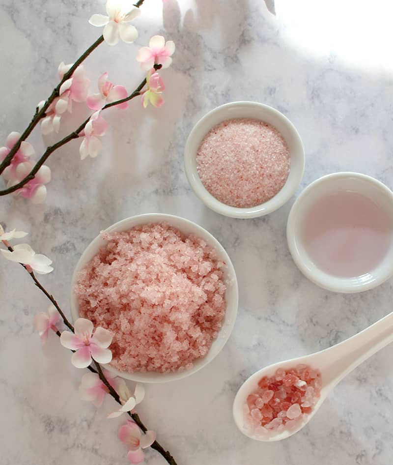 diy mothers day gifts: coconut rose body scrub