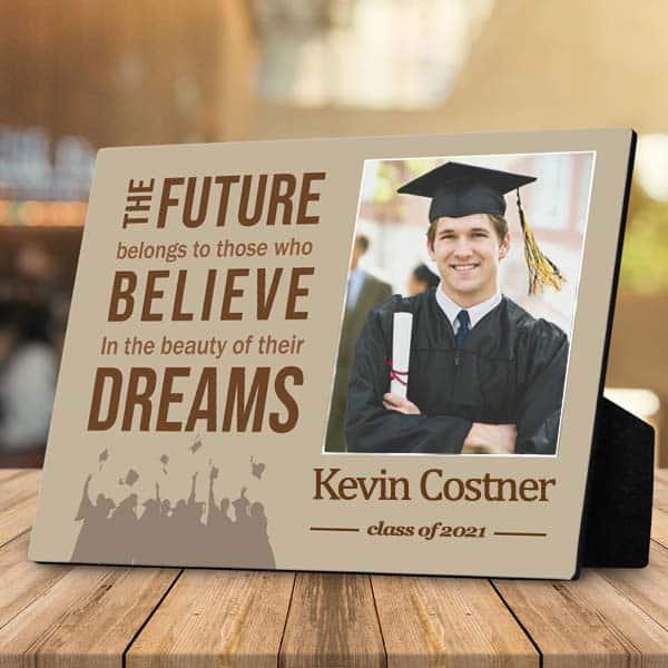 a graduation desktop photo plaque gift for him