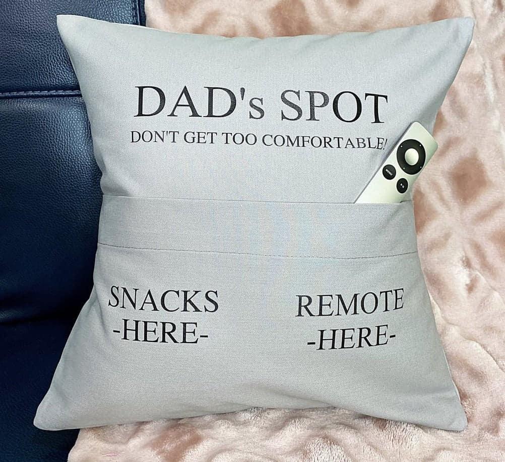 dad's spot pillow gift