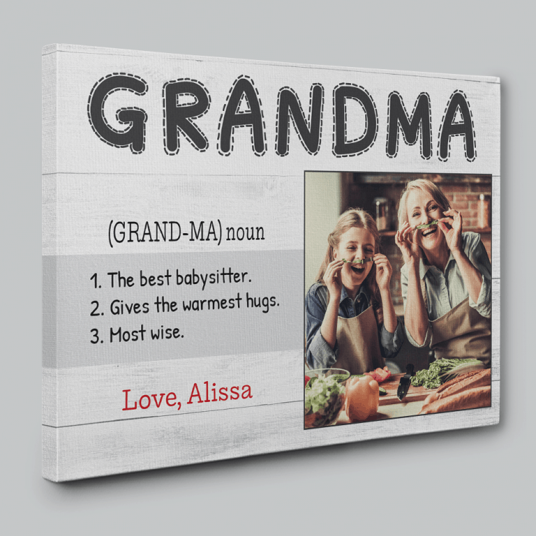 Grandma Definition Canvas Print – Custom Photo