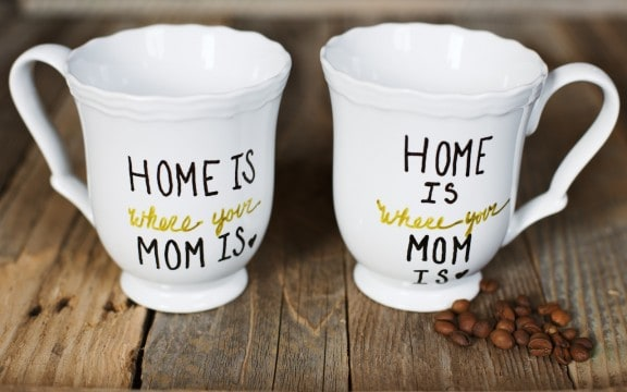 diy gifts ideas for mom: home is where your mom is mug