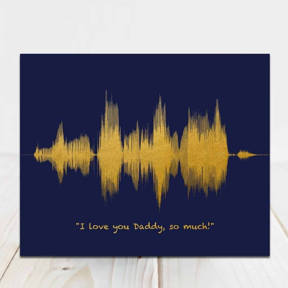 sound wave art print - First Fathers Day Gift From Baby