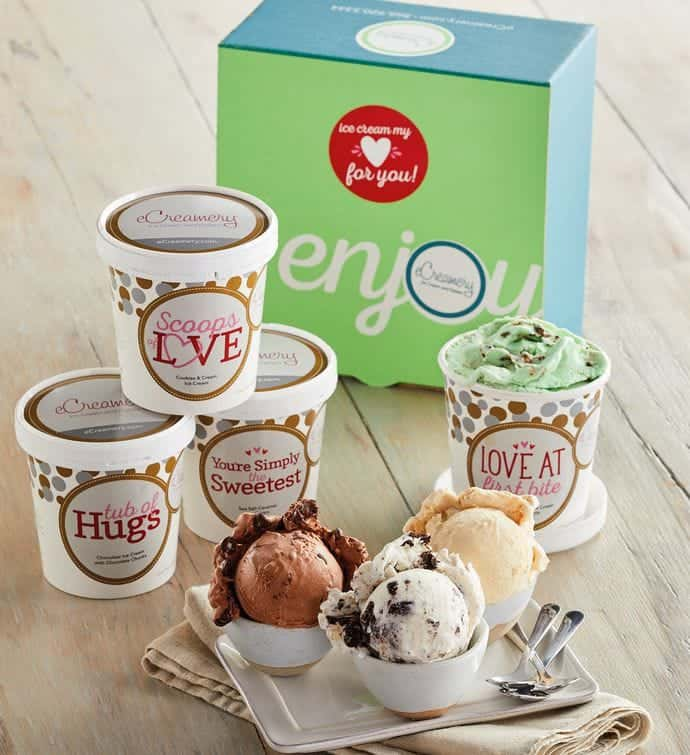 friends anniversary gifts: ice cream my love for you collection