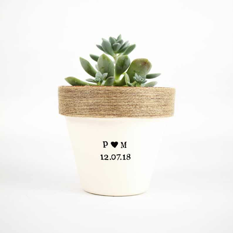 anniversary gifts for friend: custom plant pot