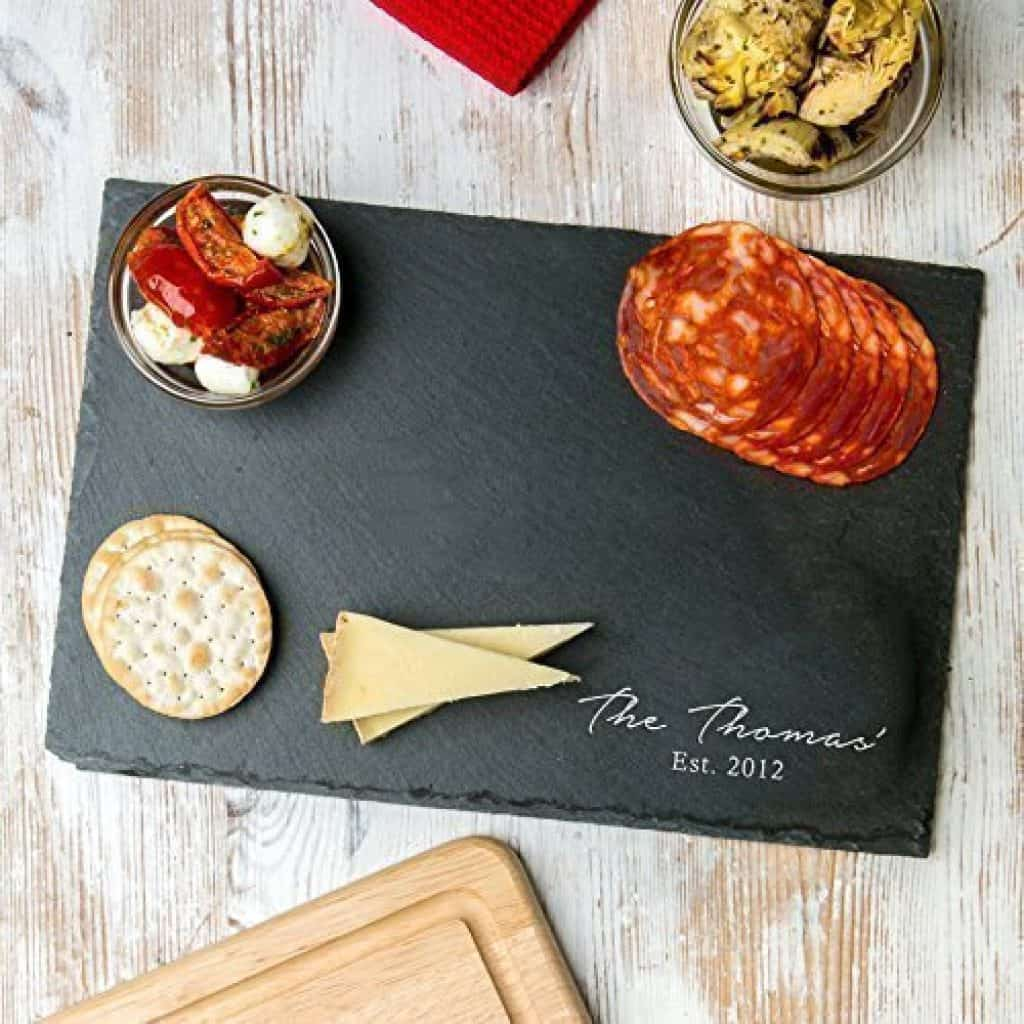 last minute anniversary gifts: personalized serving platter