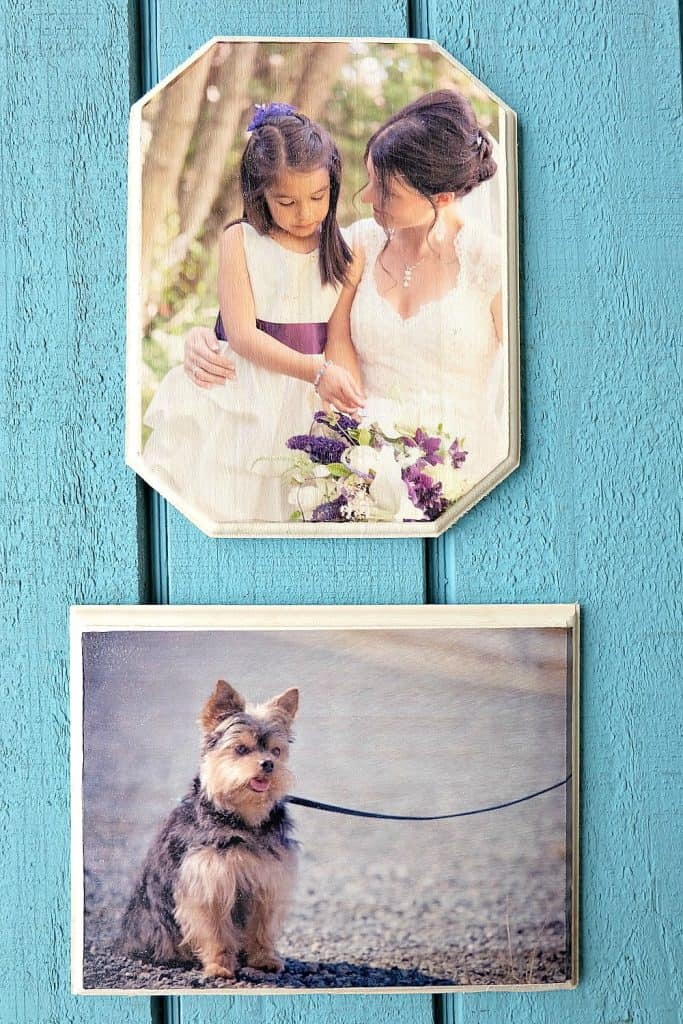 creative mothers day gifts: photo on wood