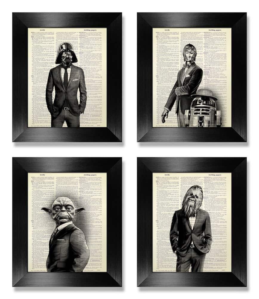 star wars poster set - graduation gift for men