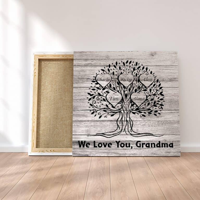 Grandma Family Tree Canvas Print