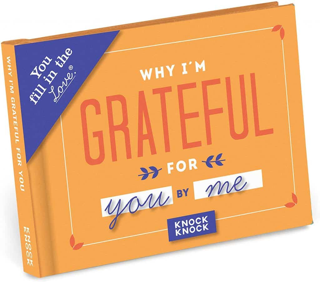 personalized anniversary gifts for him: why i'm grateful for you book